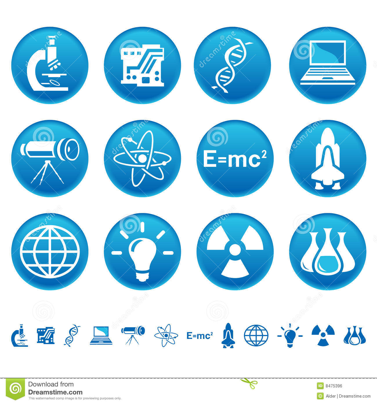 Science Technology: Science & Technology Icons Royalty Free Stock Image