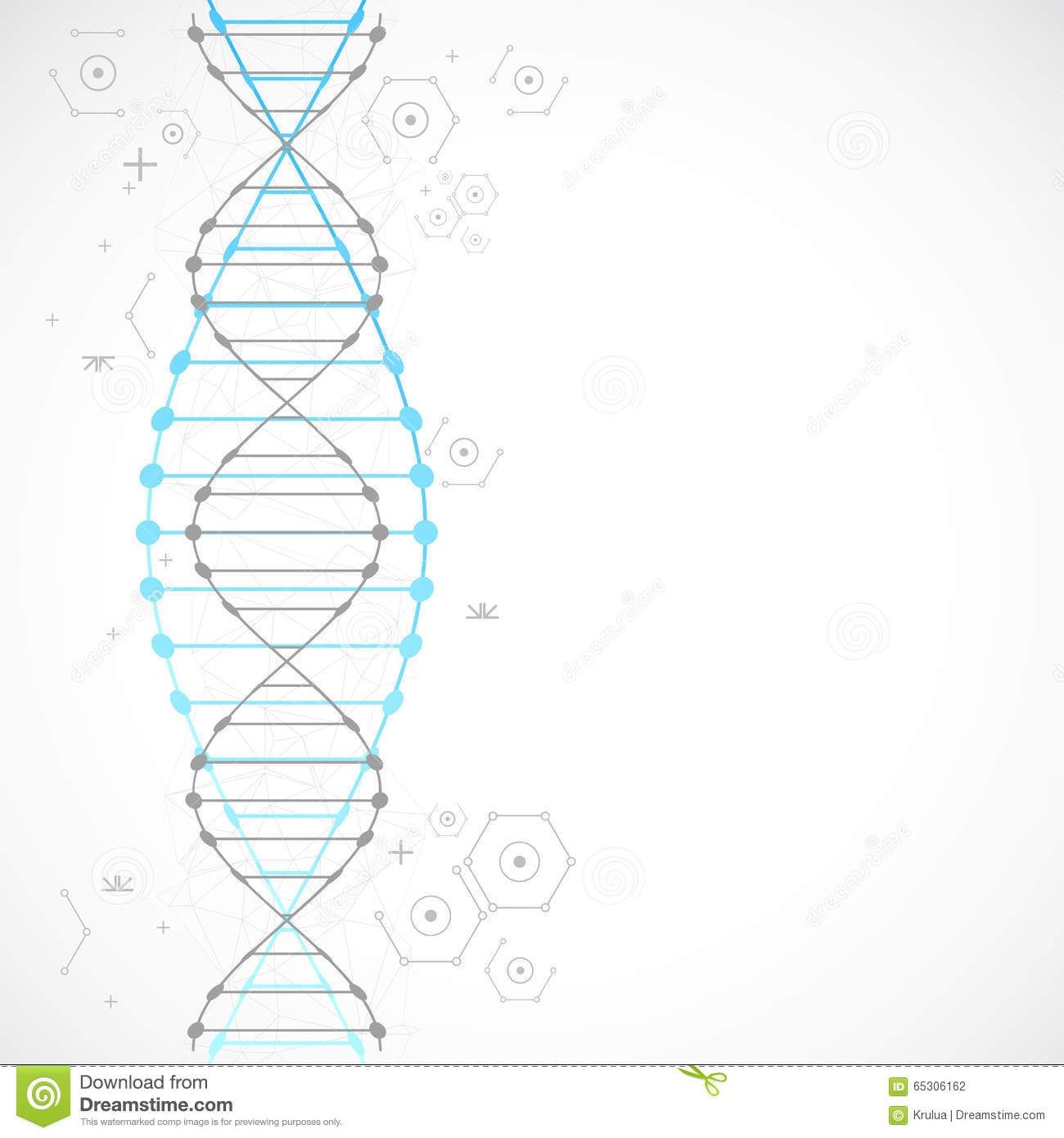science template blue wallpaper or banner with a dna molecules stock vector image 65306162. Black Bedroom Furniture Sets. Home Design Ideas