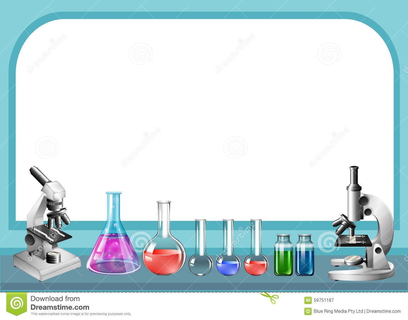 Science Tool And Frame Stock Vector - Image: 59751187