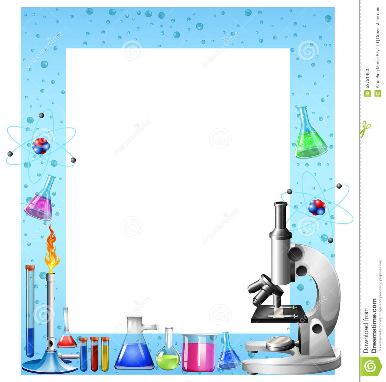 Scheme Design Science Tools And Containers Stock Vector Image 59751403
