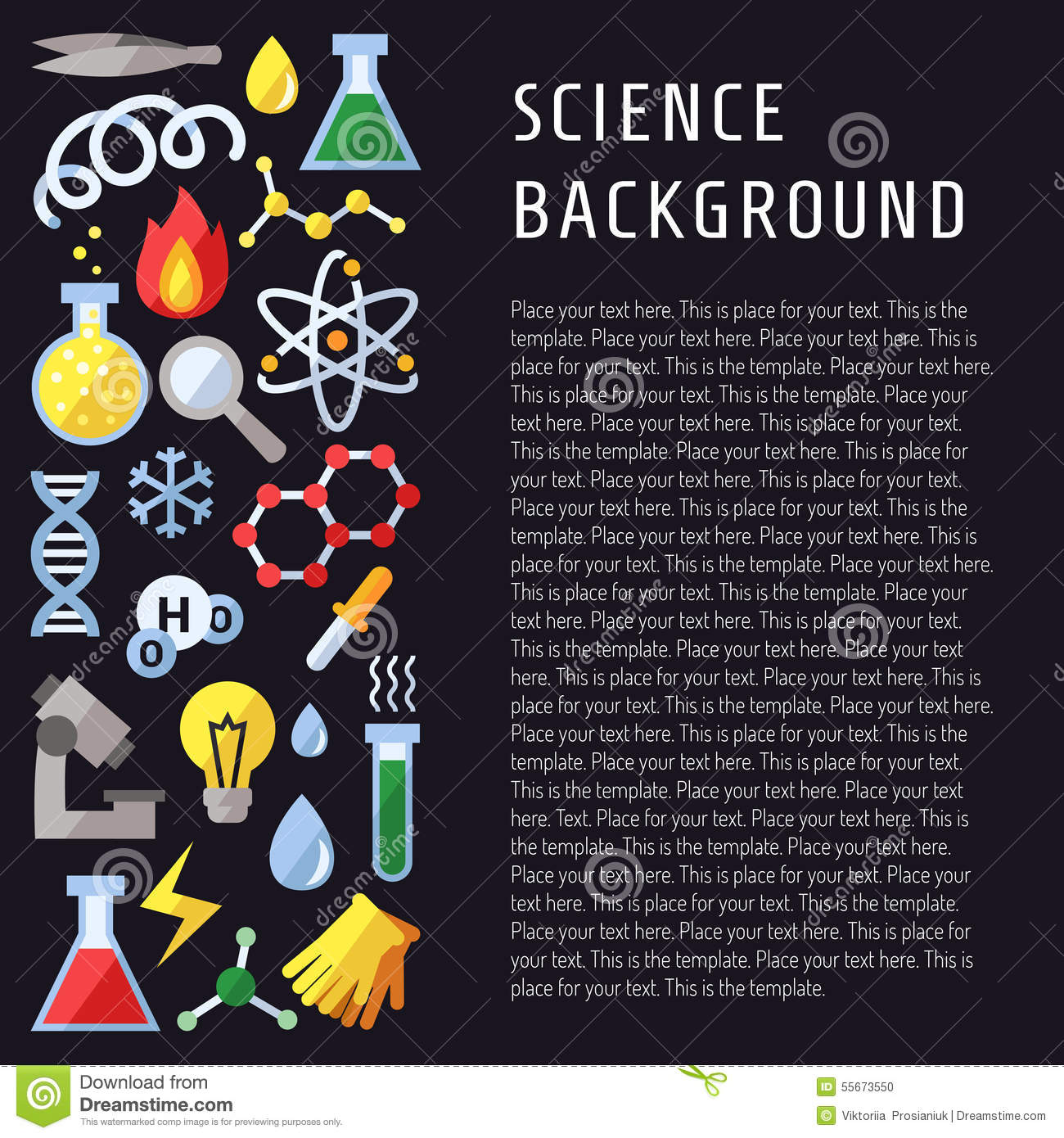 Science Physics From: Science Vector Background. Chemistry, Physics And Biology