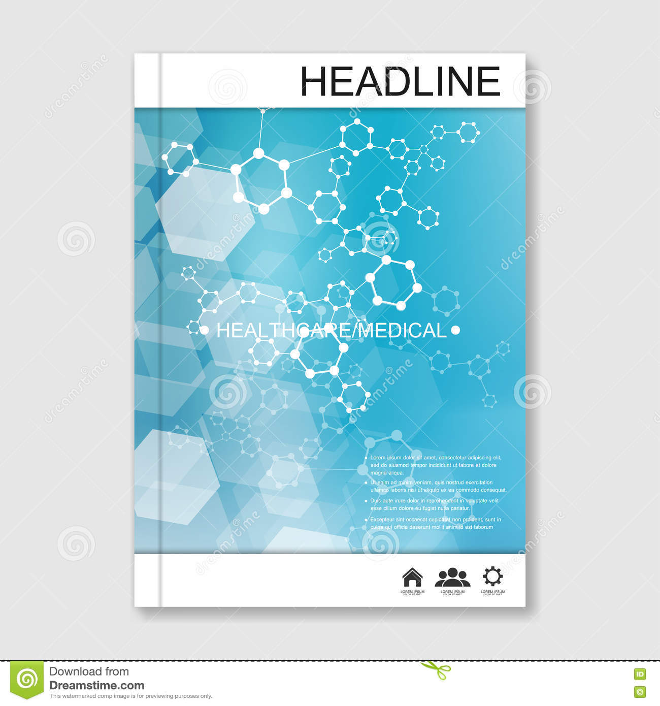 Vector Brochure Flyer Magazine Folder T Shirt Cover: Science Vector Background. Modern Vector Templates For