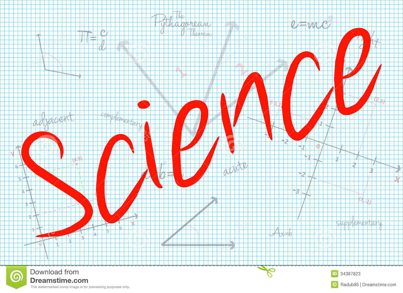 Science Word With Mathematics Background Stock Photos - Image ...