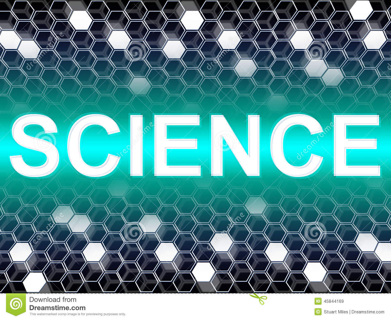 Science Word Shows Scientist Biology And Chemist Stock ...