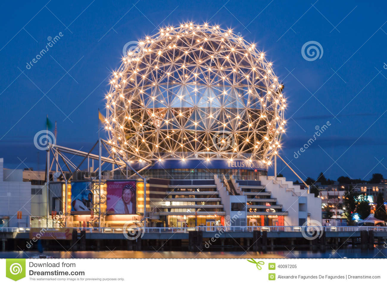 Science World Vancouver At Night Editorial Image - Image ...