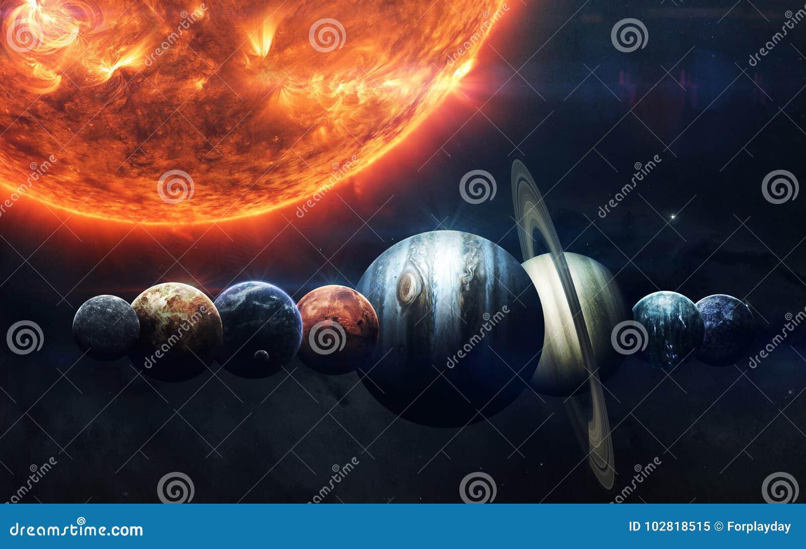 Scienceutrymmetapet, incredibly härliga planeter, galaxer Beståndsdelar av denna avbildar möblerat av NASA