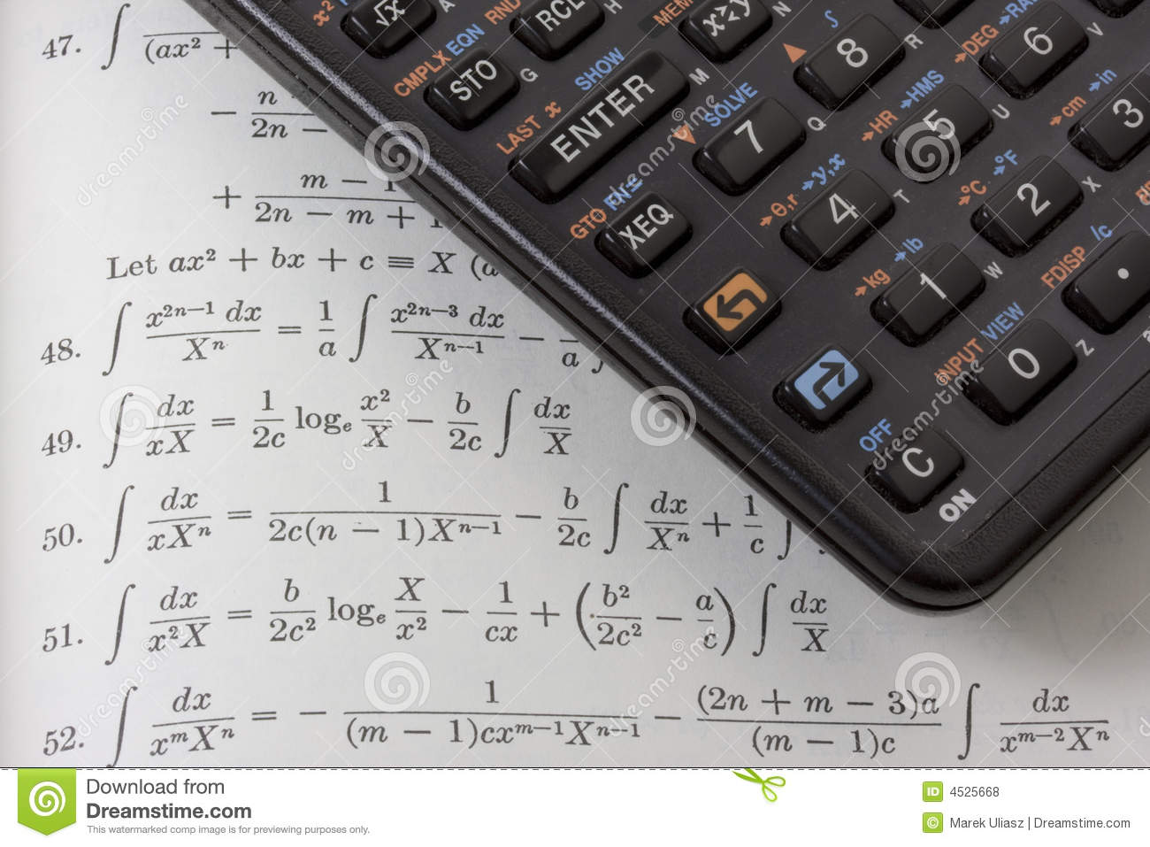 No Credit Check Credit Cards >> Scientific Calculator On Math Textbook Royalty Free Stock ...