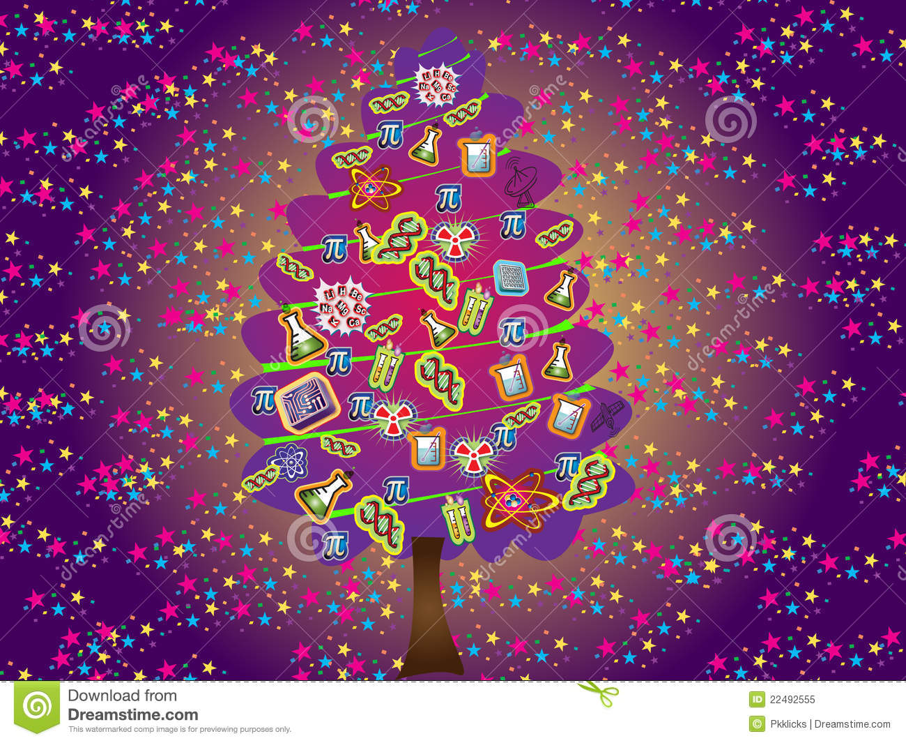 Scientific Christmas Tree Royalty Free Stock Photo - Image: 22492555