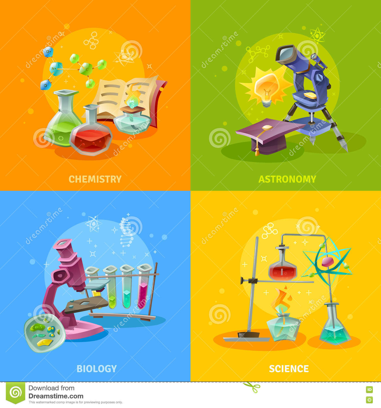 Enzyme Function Stock Vector Illustration Of Biological Manual Guide