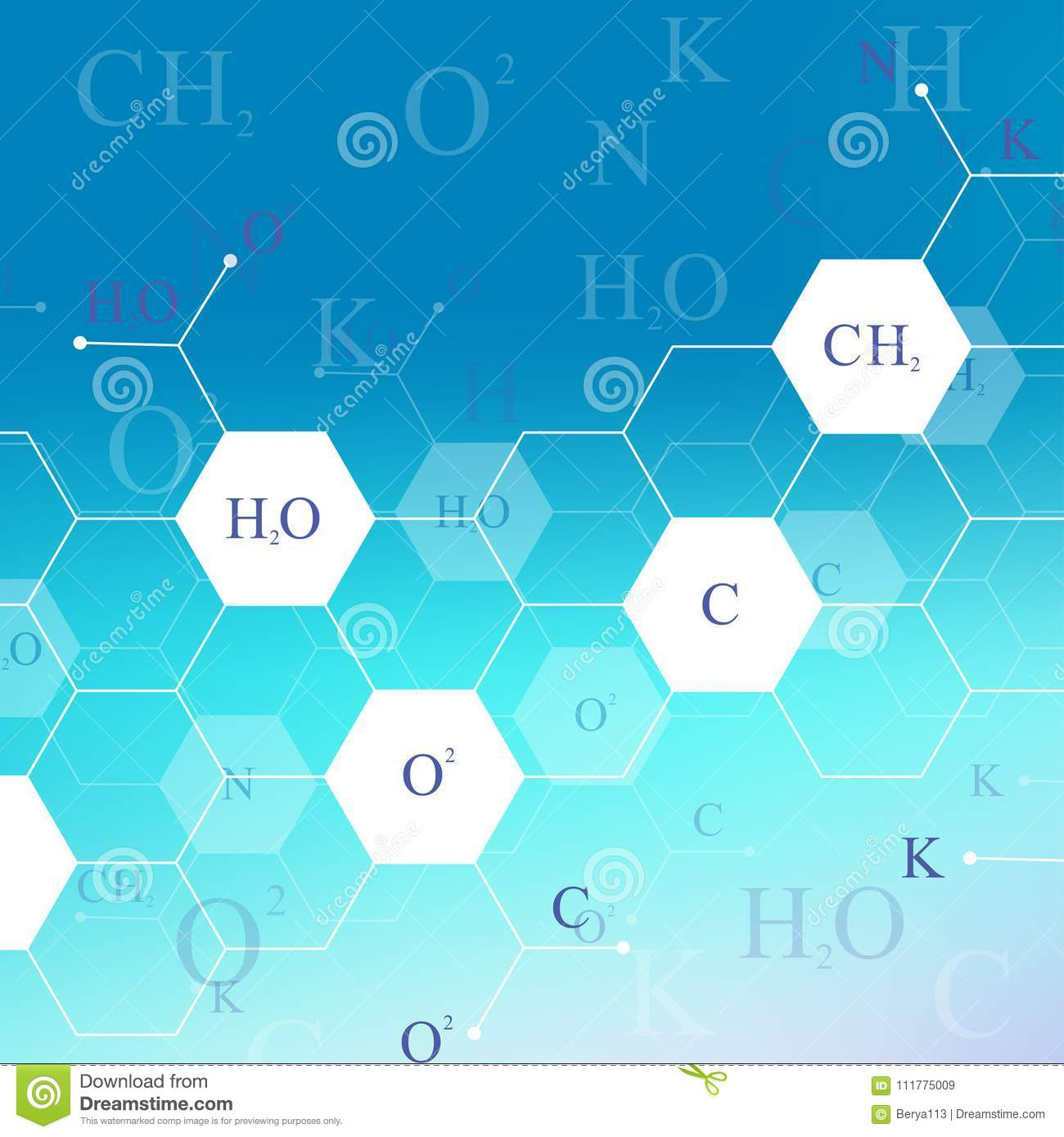 Scientific hexagonal chemistry pattern. Structure molecule DNA research as concept. Science and technology background