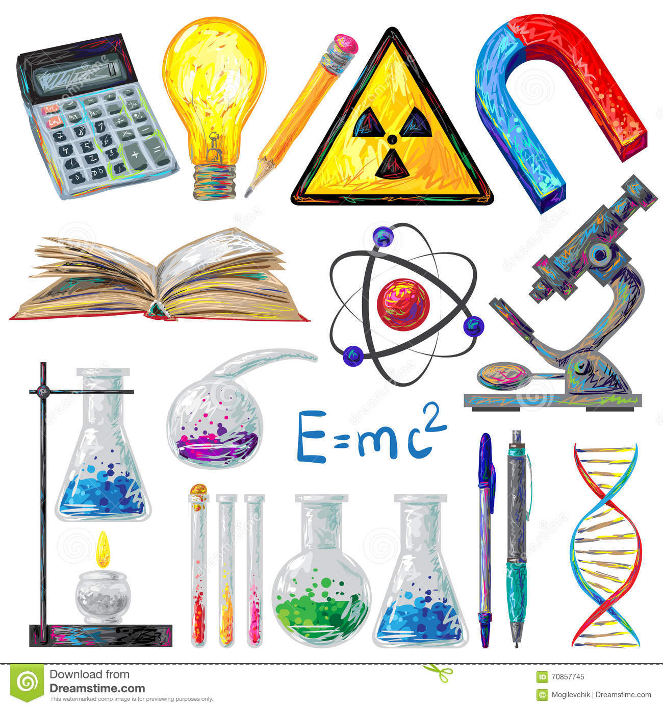 scientific objects and formulas icons set stock vector science lab clip art black white science lab clip art free