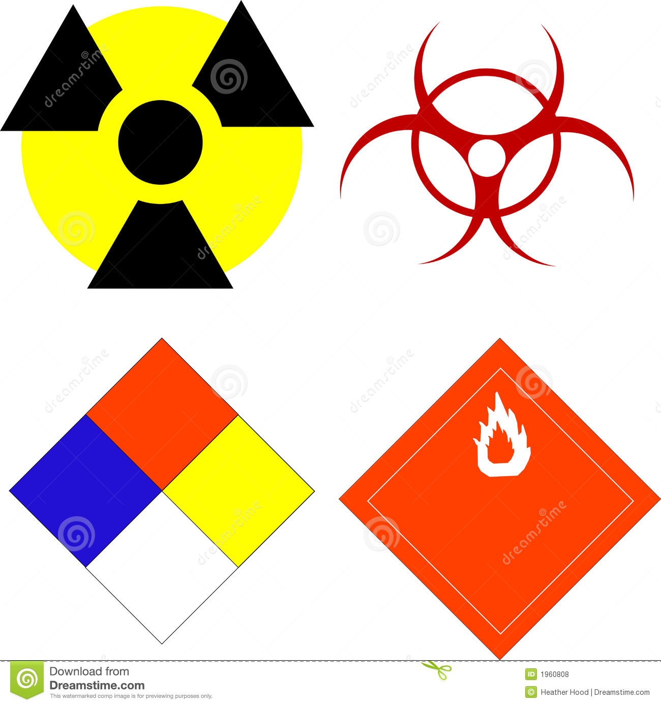 Scientific Safety Symbols Royalty Free Stock Photos - Image: 1960808