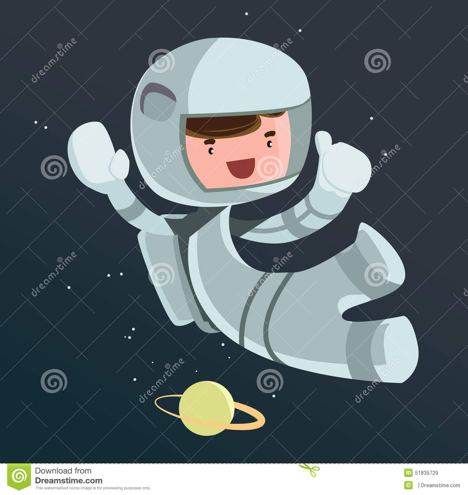 Scientifique d 39 astronaute dans le personnage de dessin anim d 39 illustration de l 39 espace - Dessin d astronaute ...