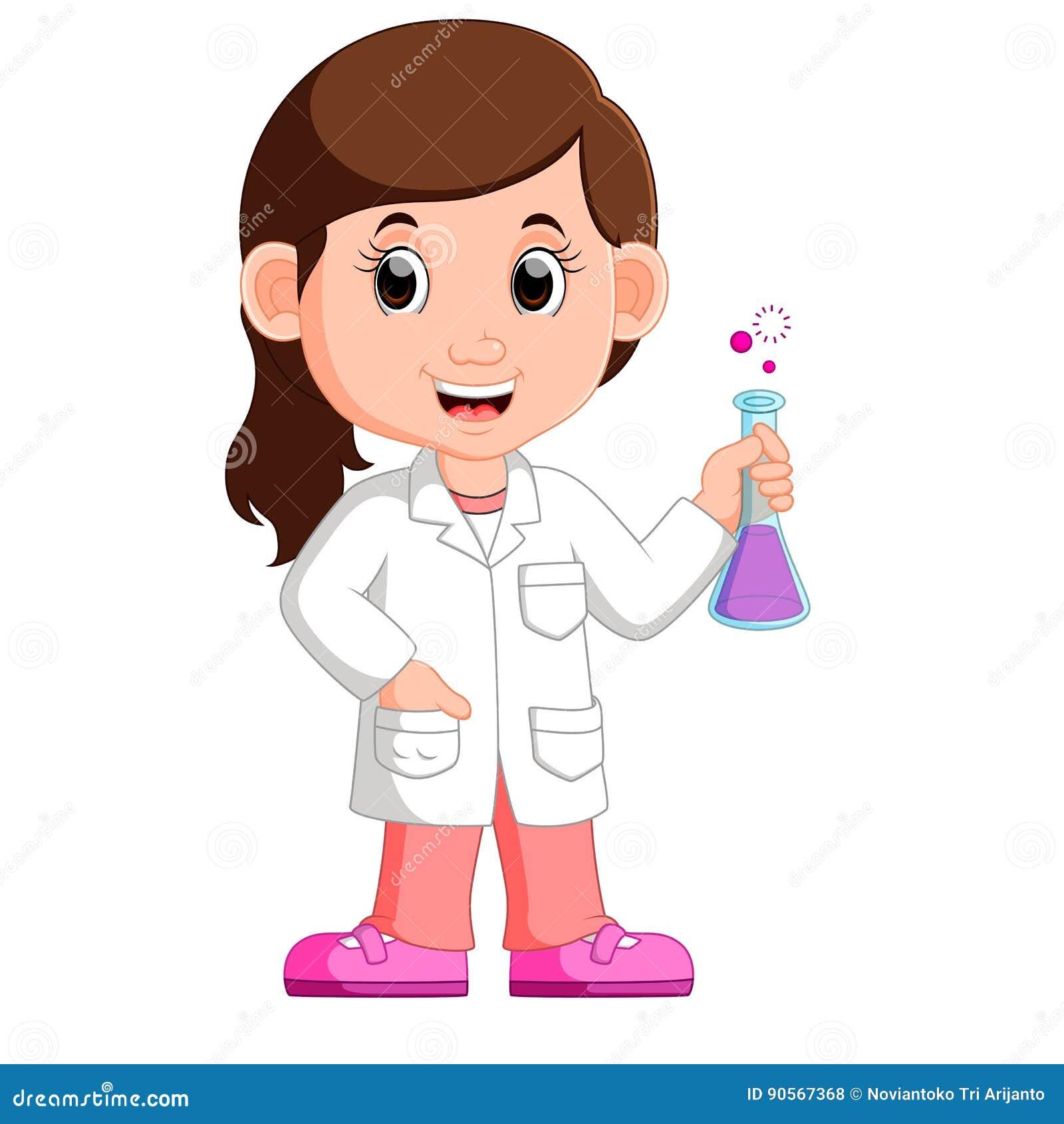 Scientifique de jeune fille