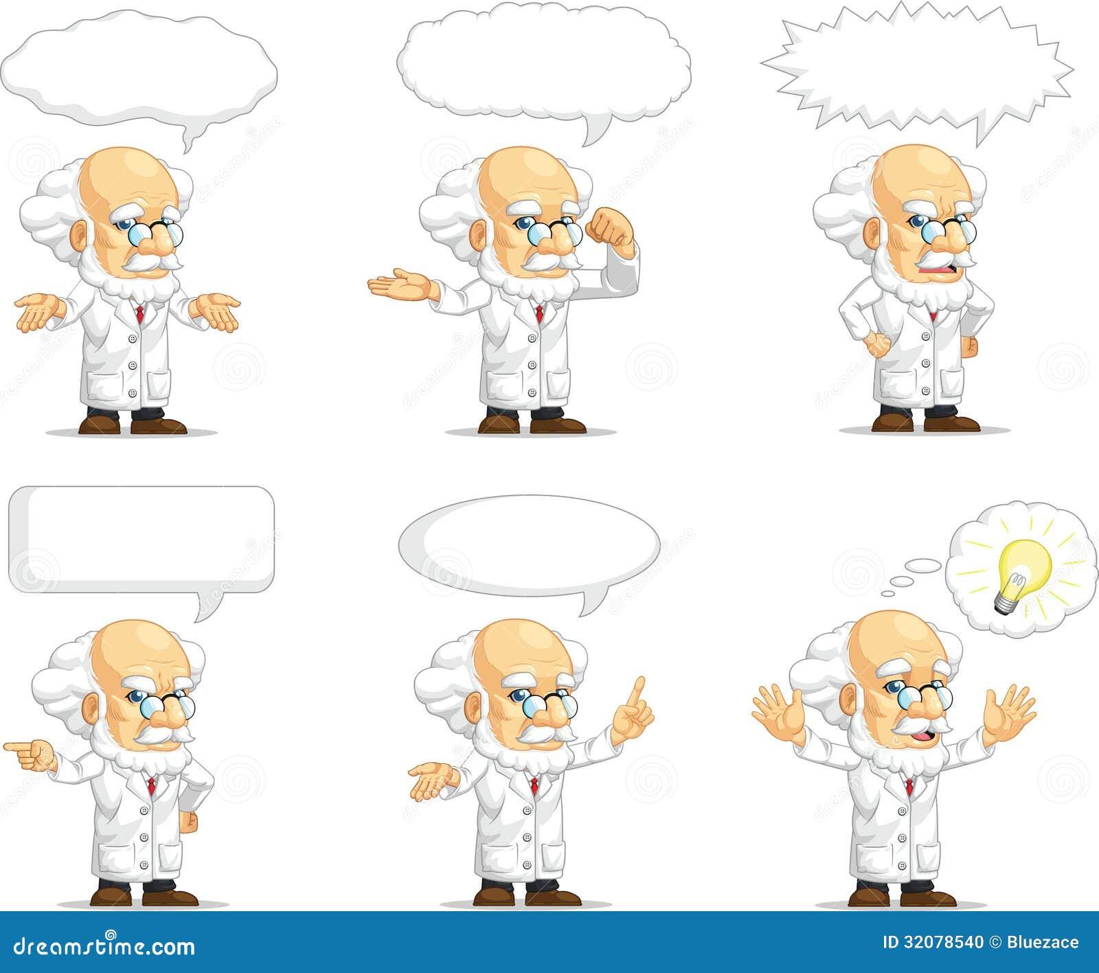 Scientifique ou professeur Customizable Mascot 15
