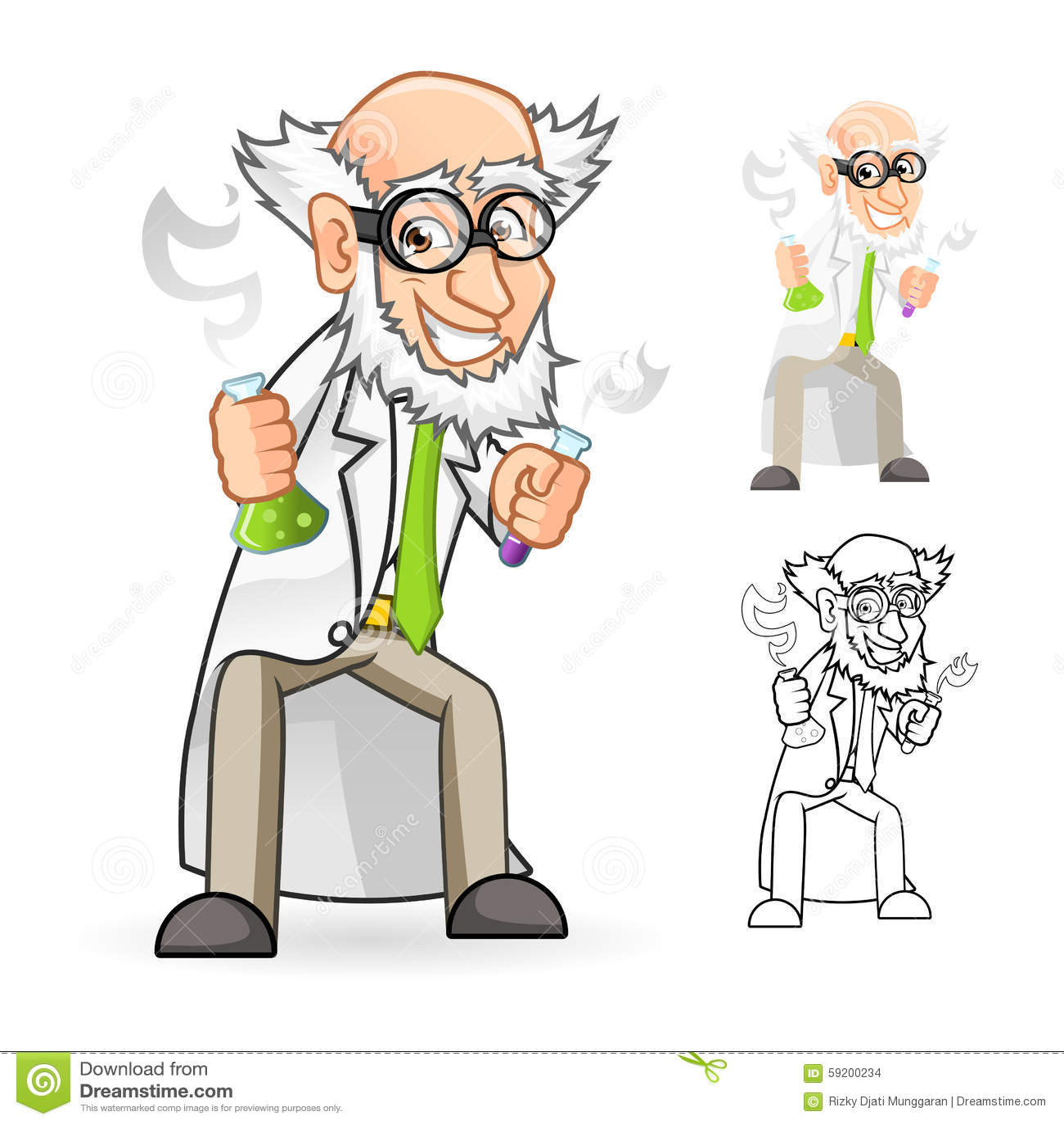 RoyaltyFree RF Clipart of Mad Scientists Illustrations