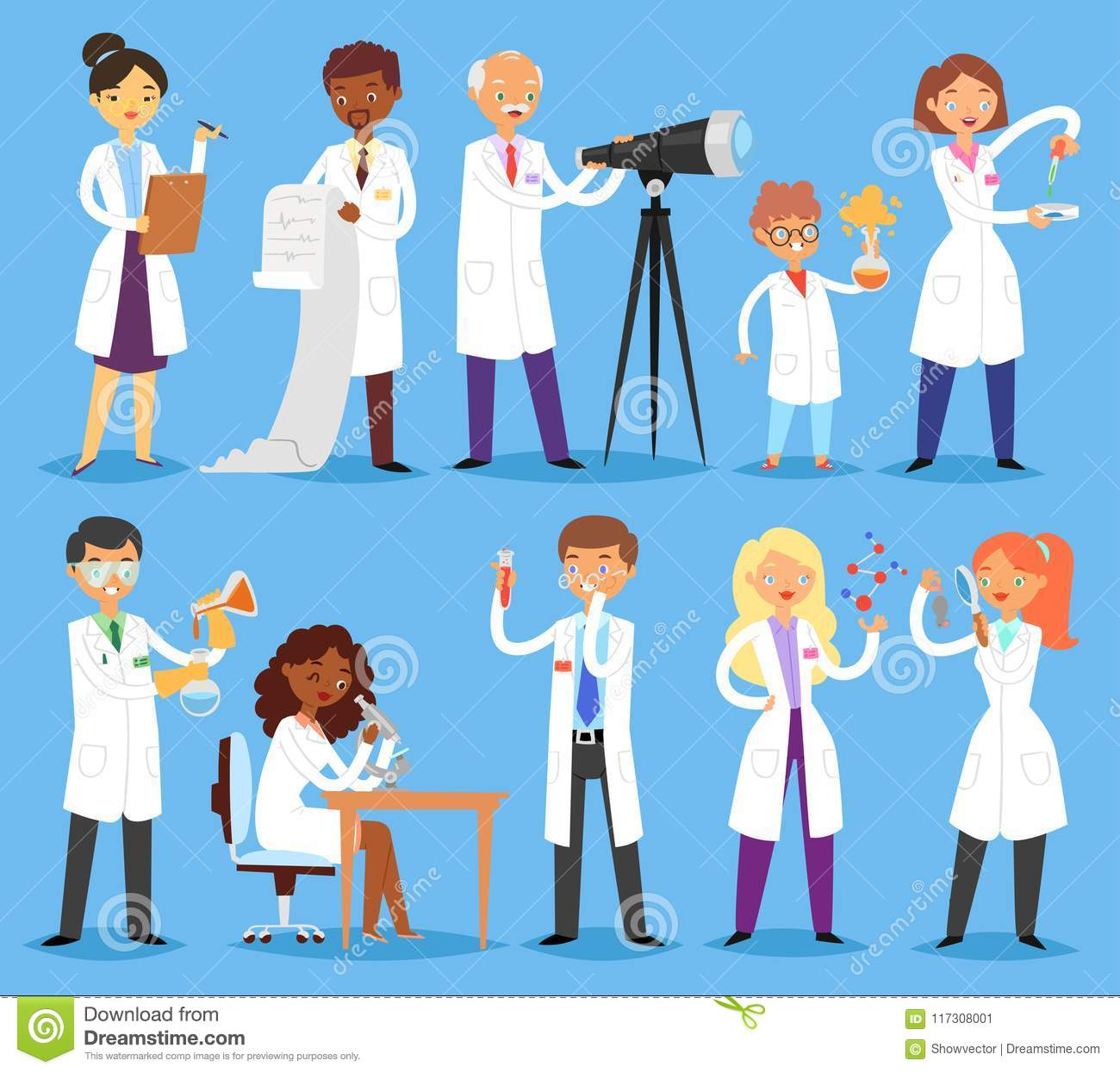 scientist vector professional people character chemist or doctor researching medical experiment in scientific laboratory stock vector illustration of clinic microscope 117308001 https www dreamstime com scientist vector professional people character chemist doctor researching medical experiment scientific laboratory scientist image117308001