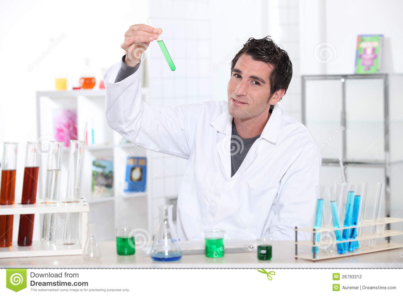 Scientist Wearing Lab Coat Stock Photography - Image: 26793312