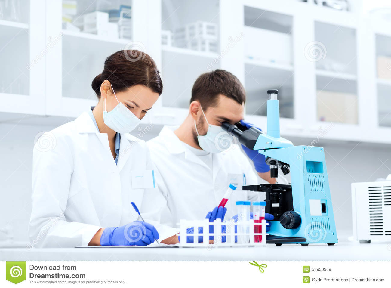 lab science test scientists technology tube chemistry biology microscope laboratory clipboard clinical concept