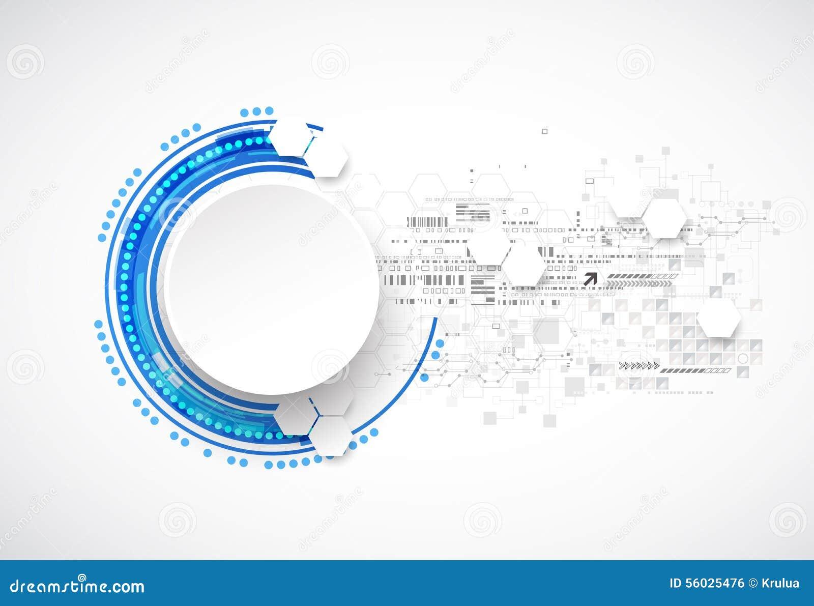 Scienza di affari o fondo blu astratta di tecnologia
