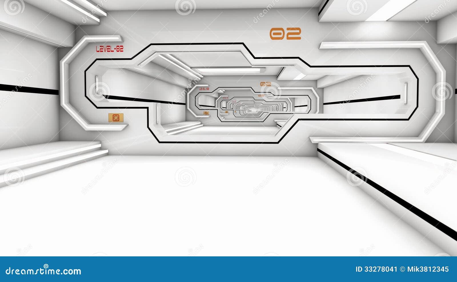 SCIFI futurista del pasillo