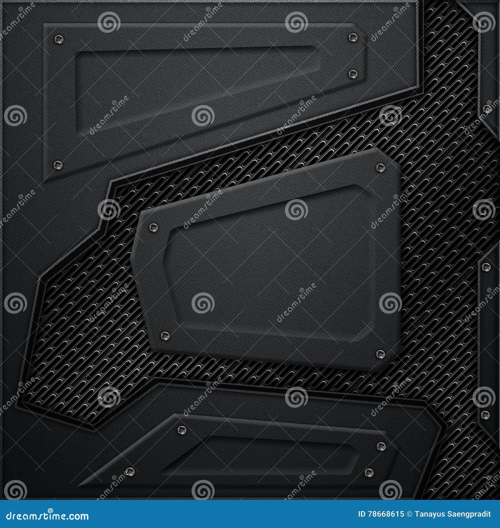 Scifi Wall Black Carbon Fiber Wall Black Mesh Metal Backgr Background Texture D Illustration Technology Concept on Carbon Fiber Texture