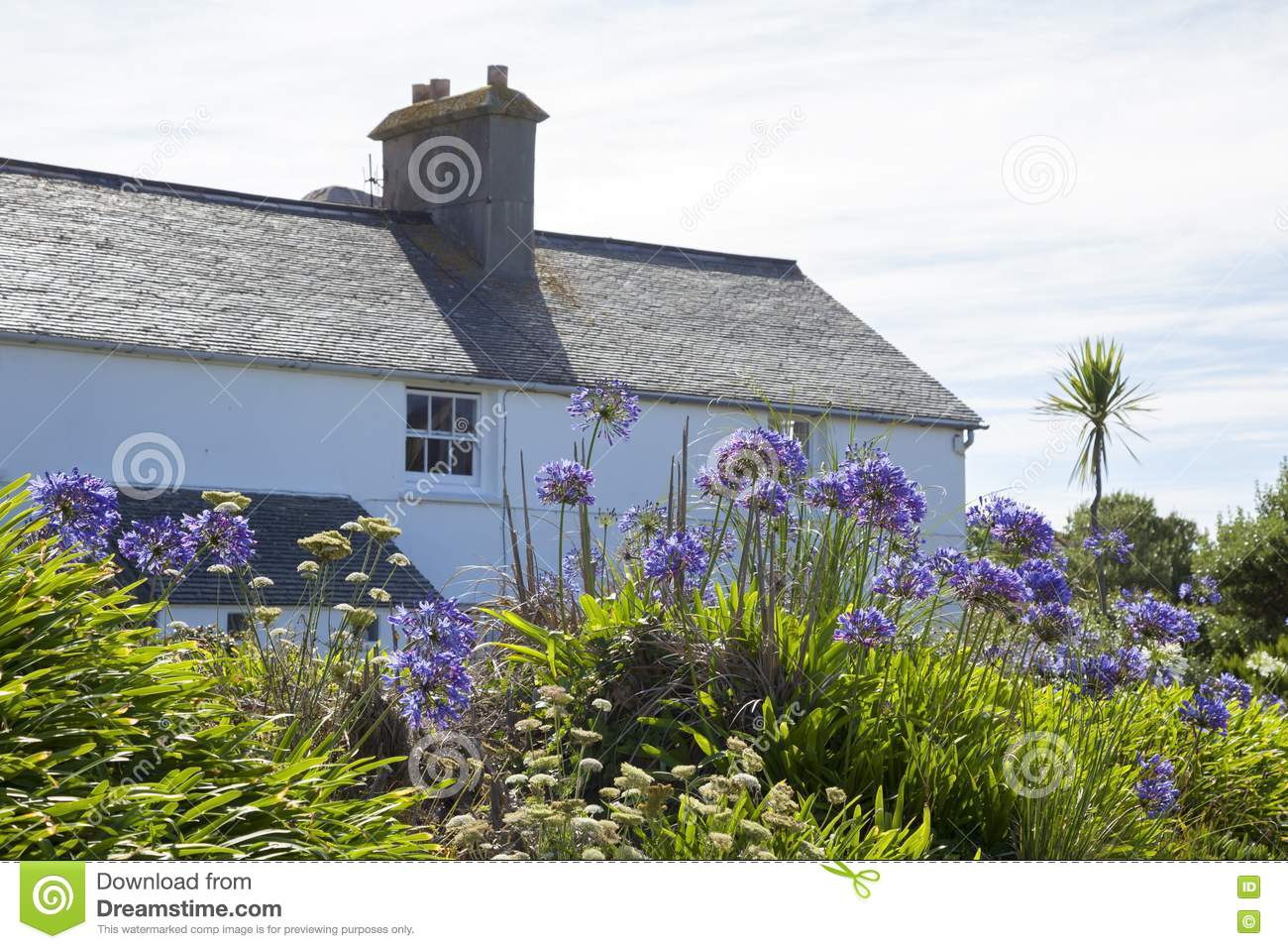 Scillonian Cottage, Tresco, Isles Of Scilly, England Stock