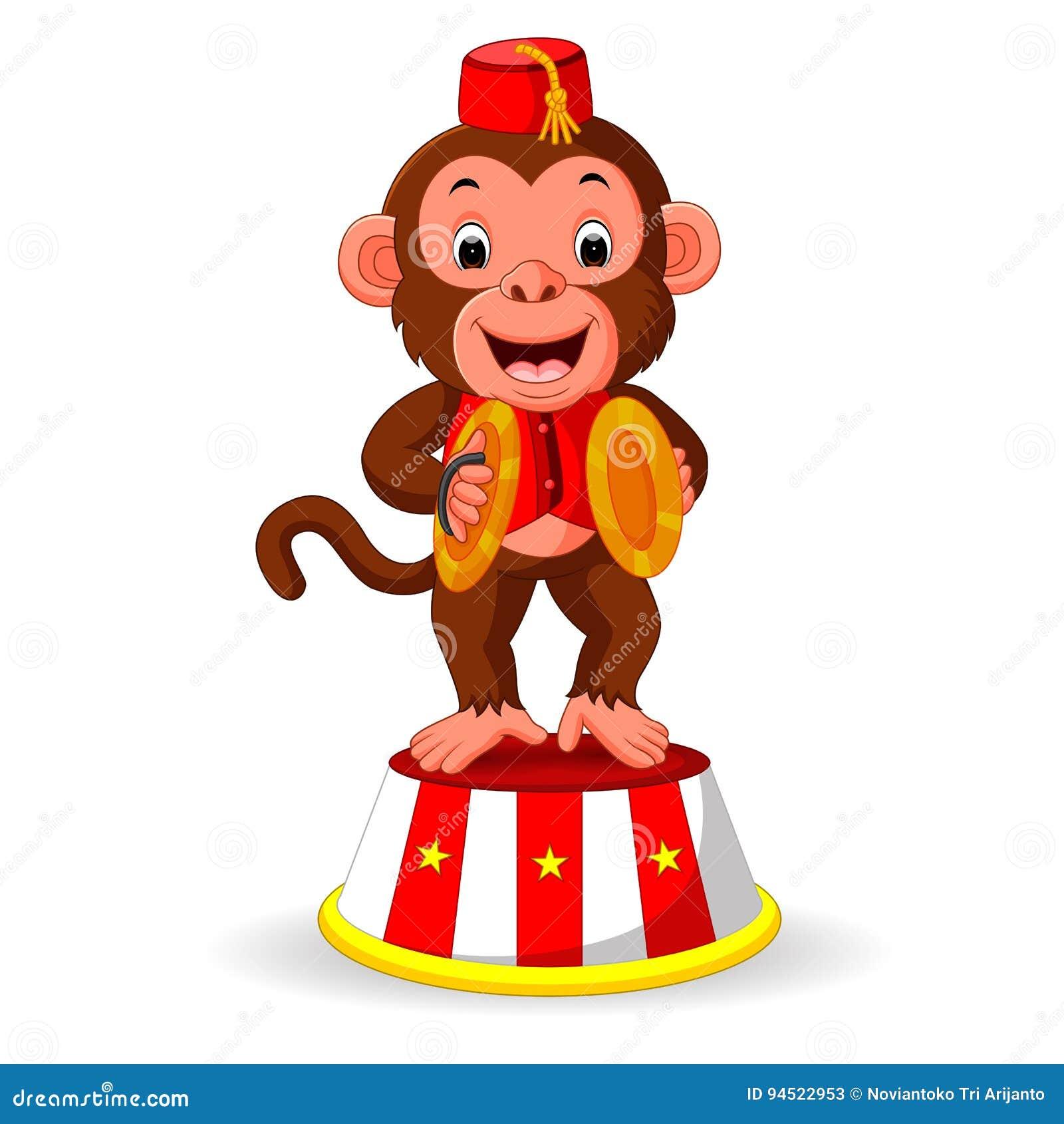 Scimmia Sveglia Che Gioca I Piatti Della Mano Di Percussione Illustrazione  Vettoriale - Illustrazione di kitsch jester 94522953