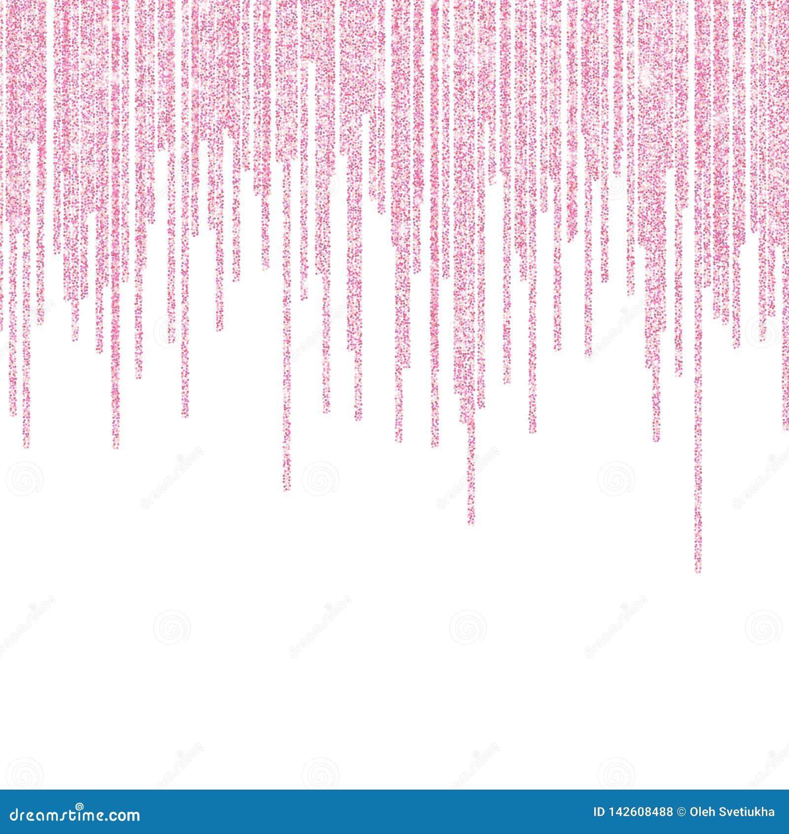 Scintilla rosa di scintillio su un fondo trasparente Fondo di Rose Gold Vibrant con le luci di scintillio Illustrazione di vettor