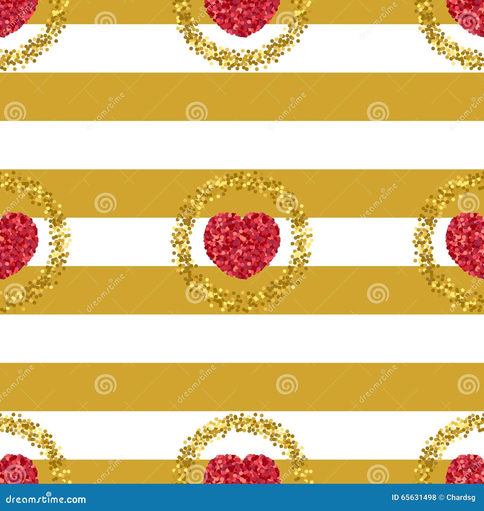 Scintillement vert Coeur des confettis rouges Configuration de coeur Étincelles d or