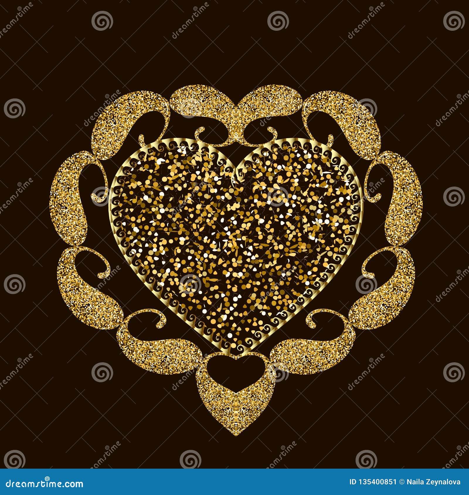Scintillent le mod le brillant de mandala de coeur d 39 amour - Modele de mandala ...