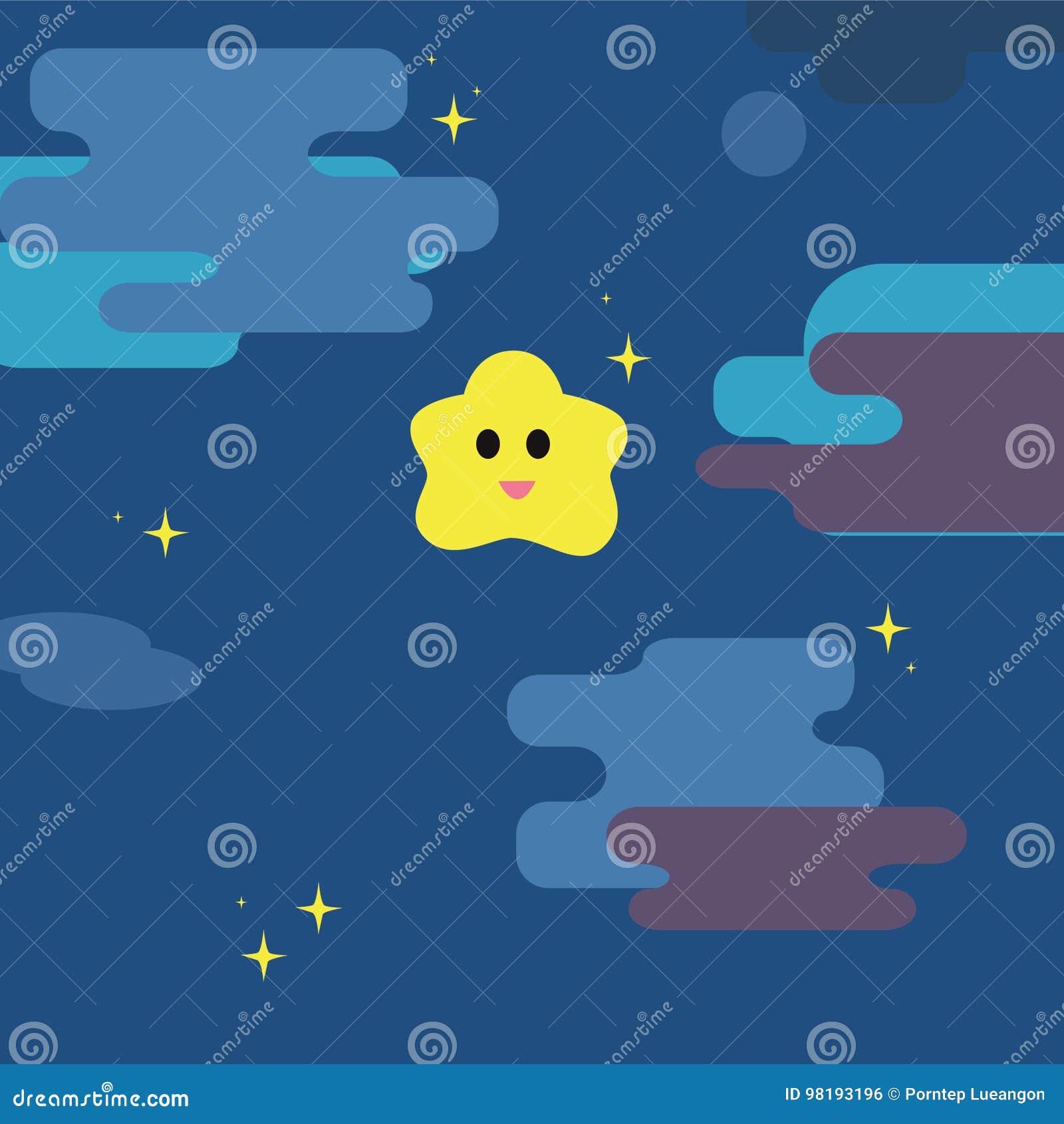 Scintillio poca stella con il fondo del cielo notturno