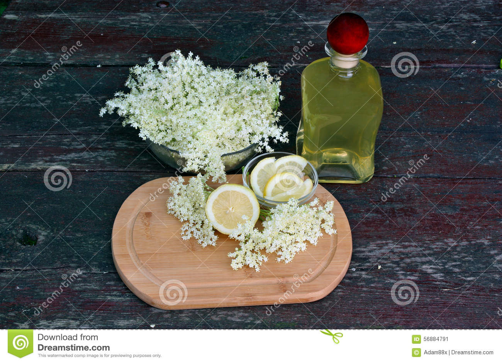 Sciroppo della bacca di sambuco dei fiori