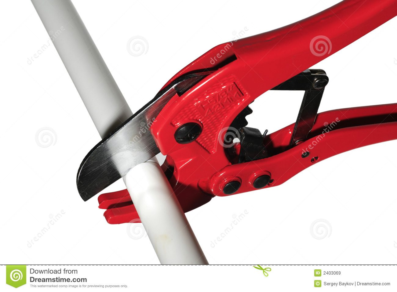 Scissor Cut Plastic Pipe Royalty Free Stock Images Image