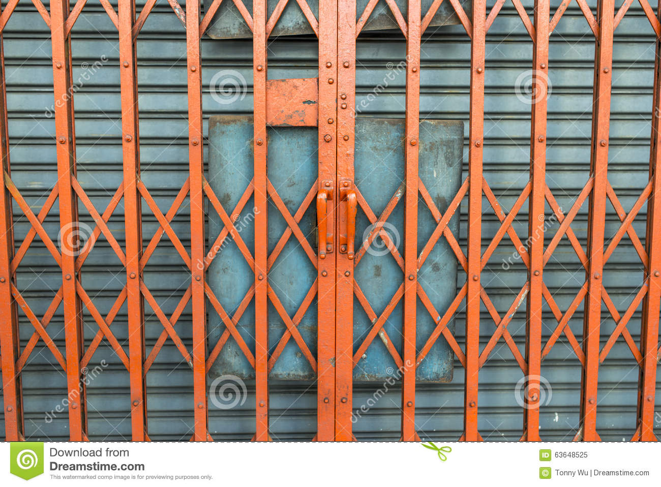 Scissor Gate Stock Image Image Of Classic Close