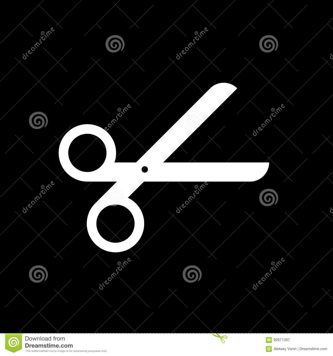 Scissor vector icon isolated on black background stock vector scissor vector icon isolated on black background biocorpaavc