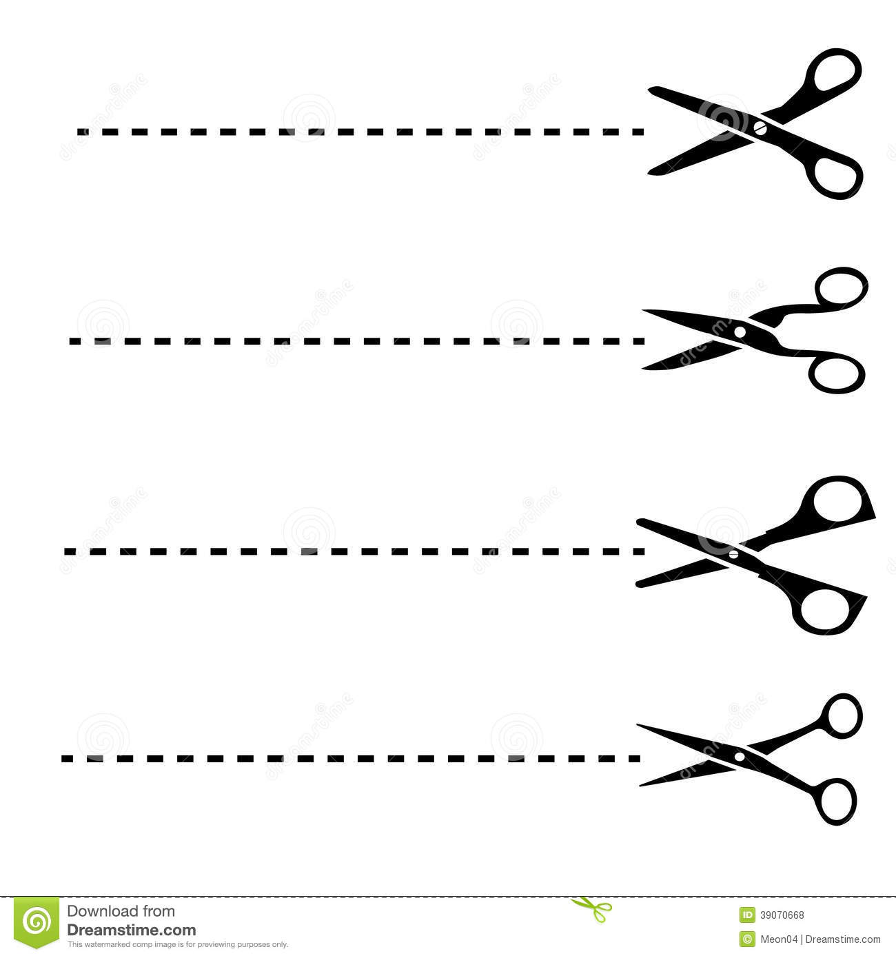 Vector Drawing Lines Kindergarten : Scissors with cut lines stock vector illustration of