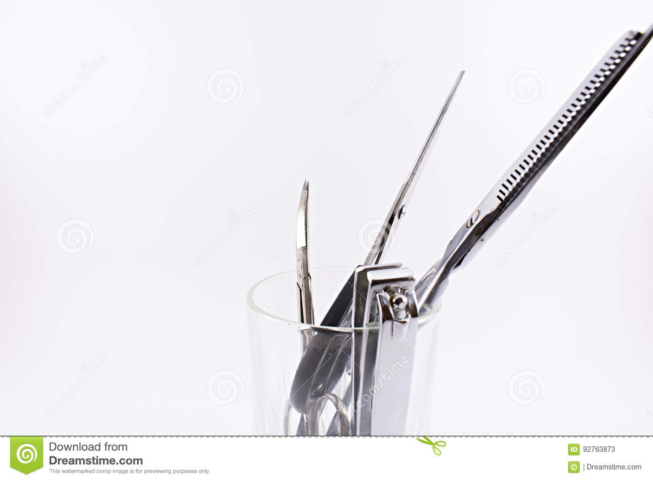 Scissors and nail clippers.