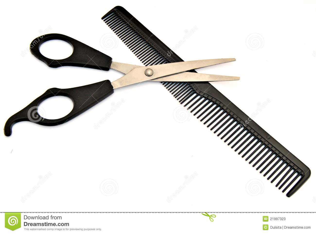 Scissors Over Comb Haircut Stock Photos Image 21997323