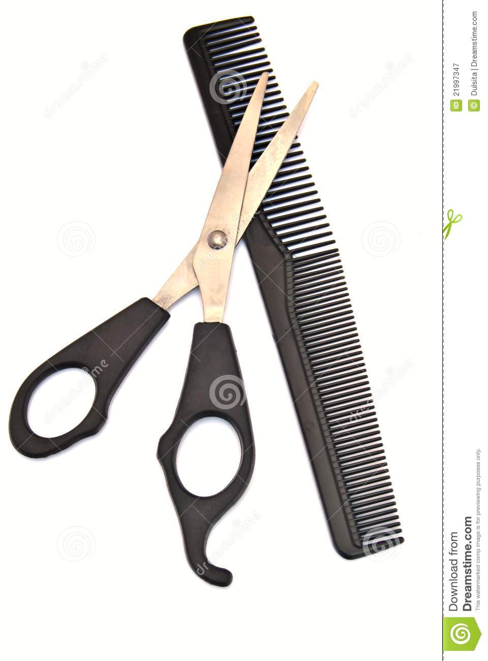 Haircut with scissors