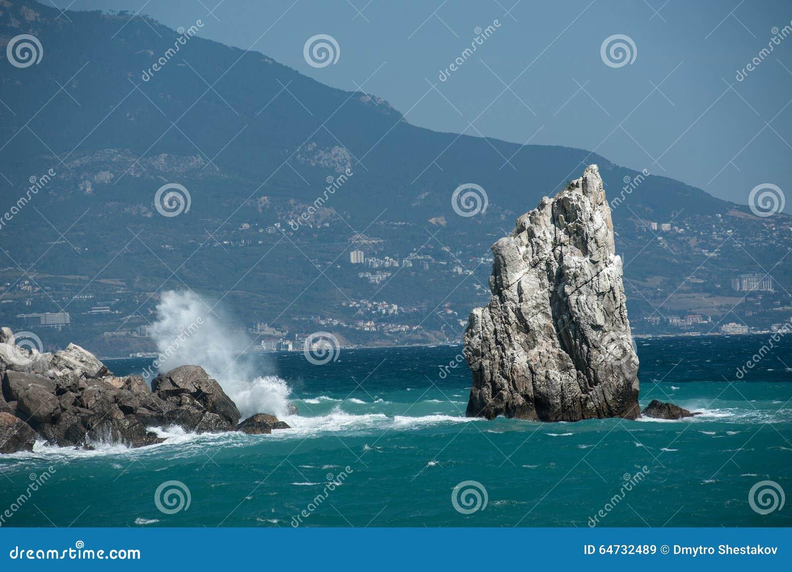 Scogliera nel mare