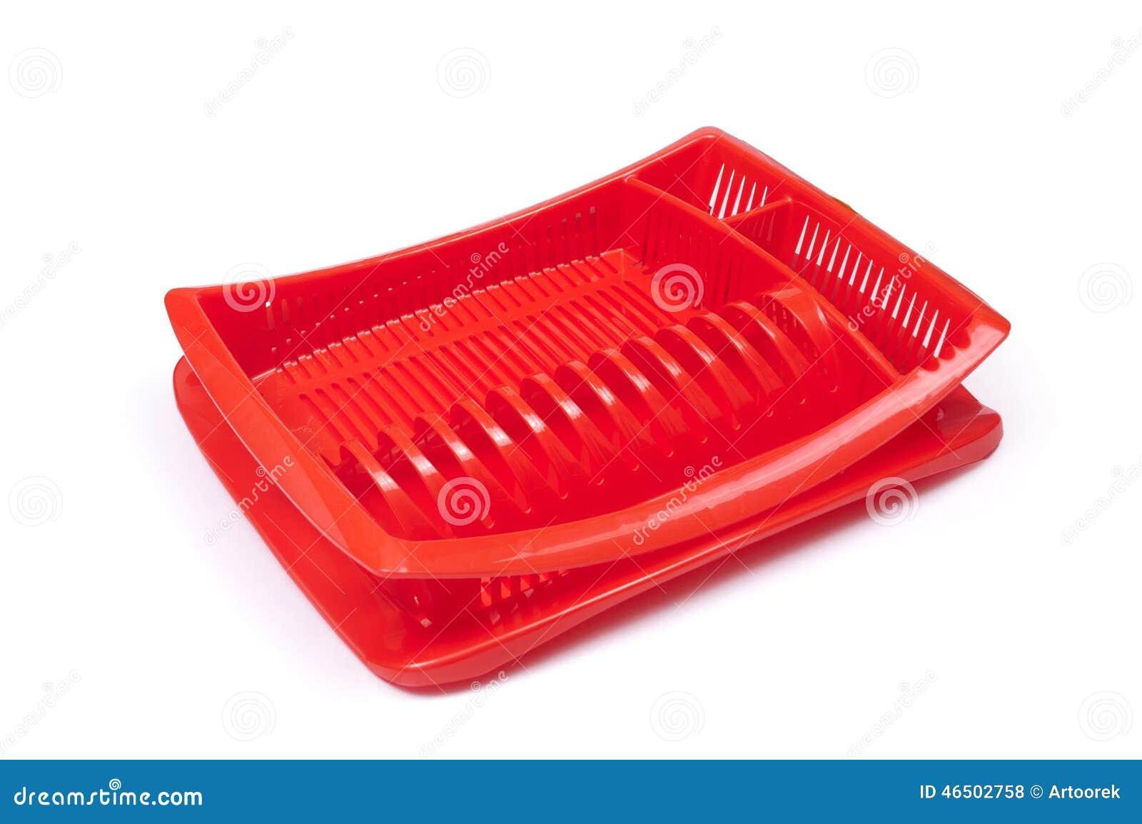 Scolapiatti Di Plastica Fotografia Stock - Immagine: 46502758