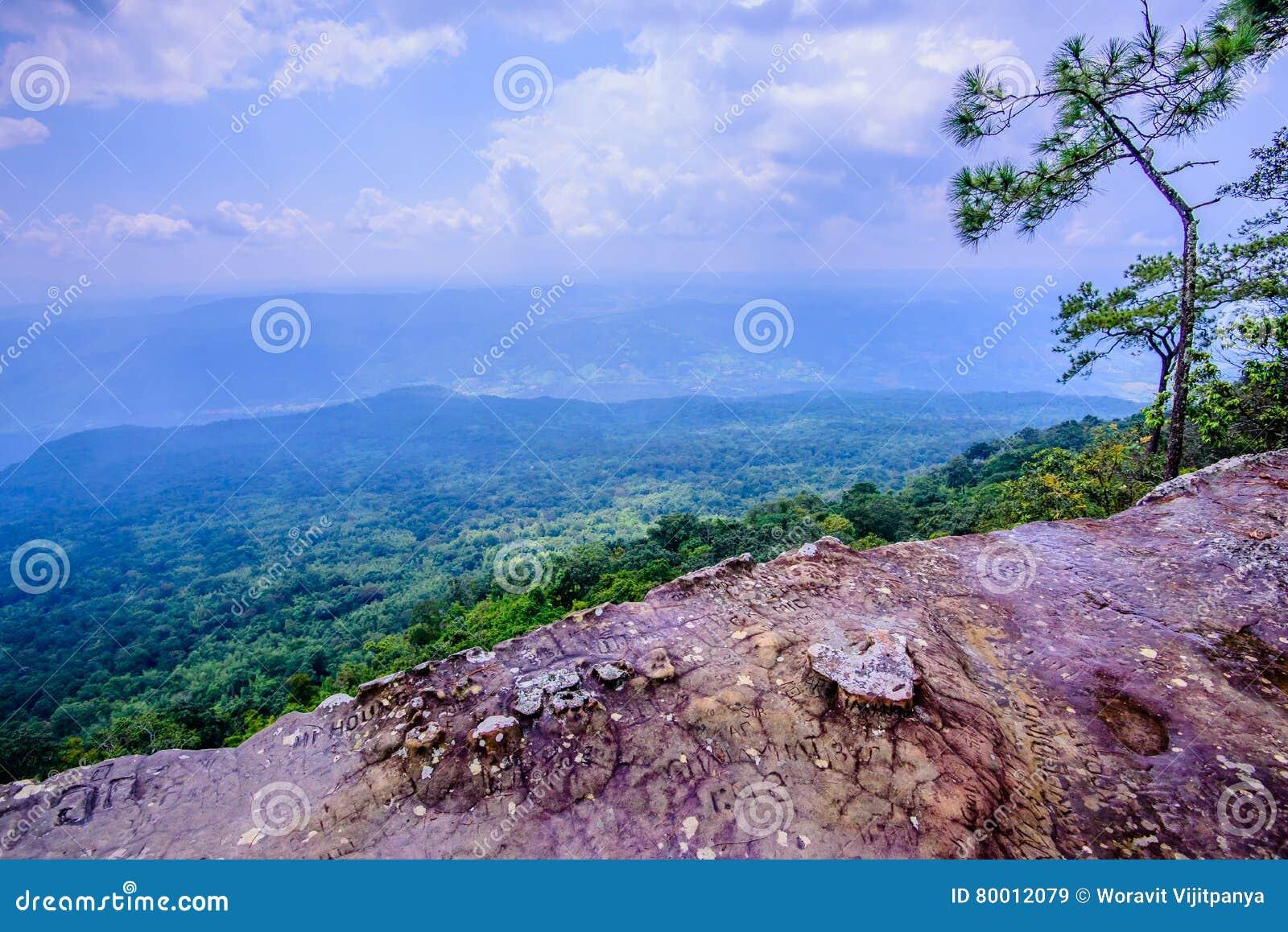 Scolpisca la scogliera di pietra di Lom Sak