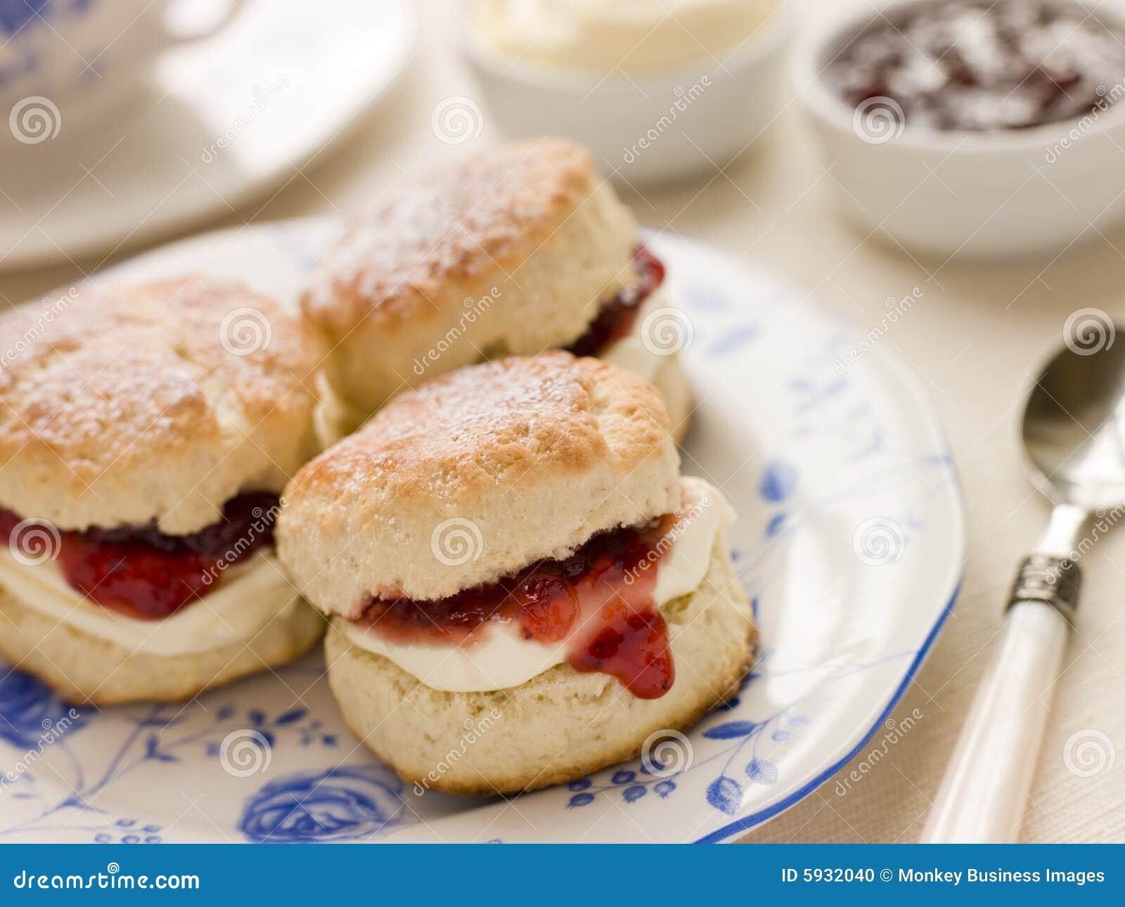 Scones Tea Clotted Cream and Jam