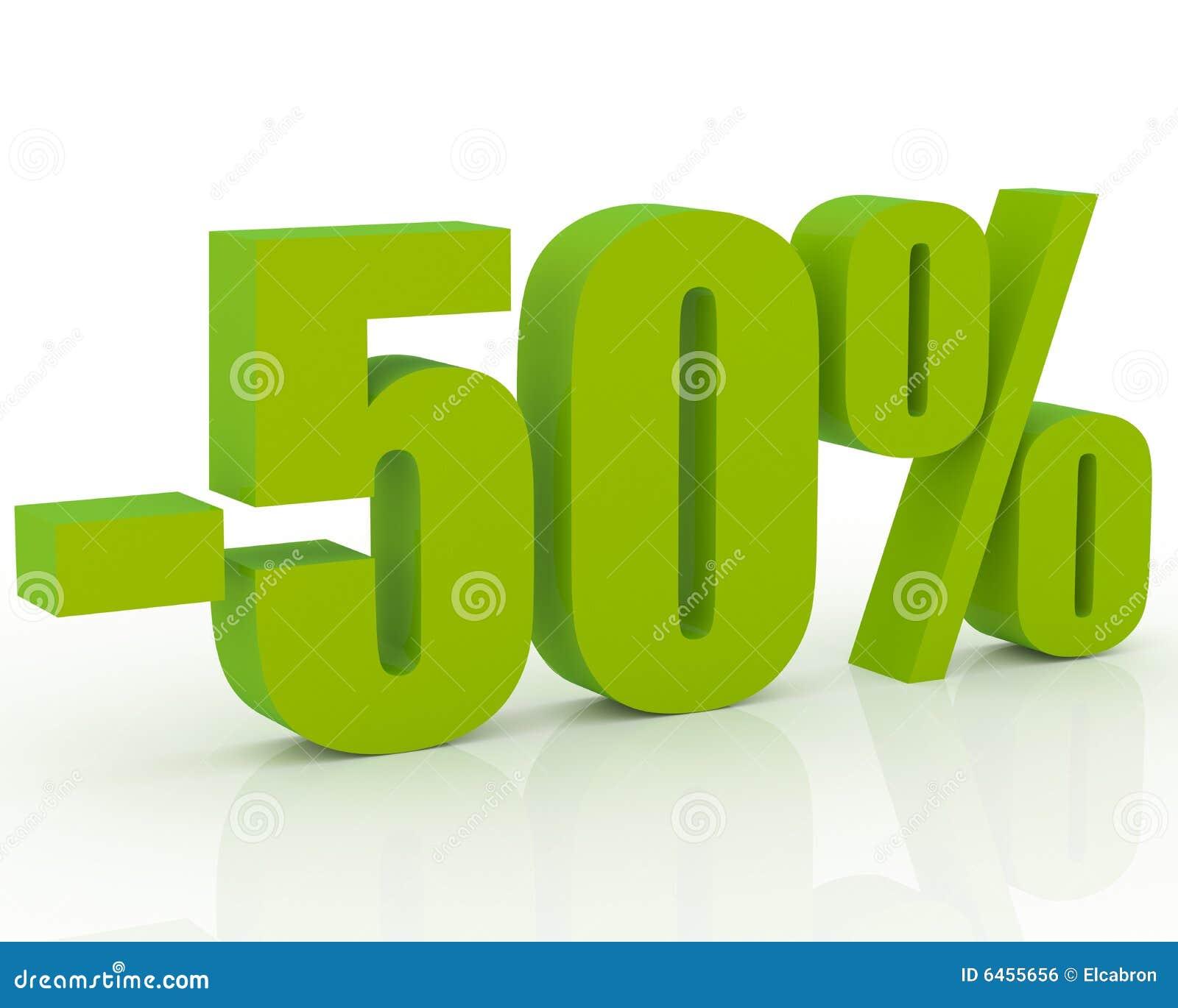 Sconto di 50 immagine stock libera da diritti immagine for Acquisto mobili 50 detrazione