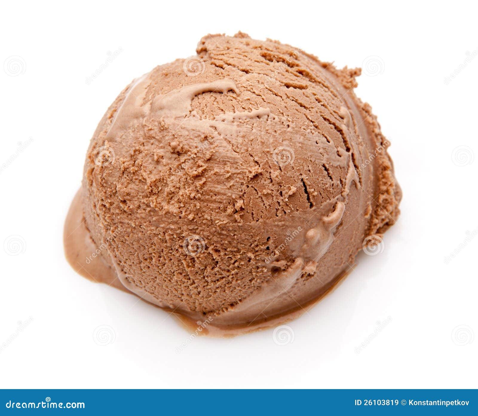 Scoop Ice Cream : Scoop of chocolate ice cream royalty free stock images