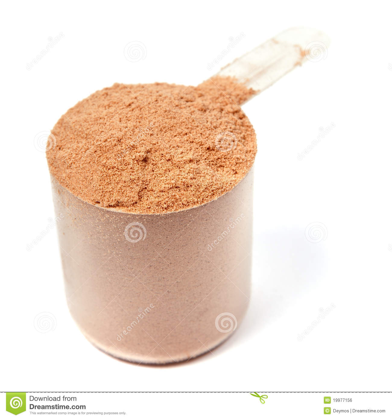 Scoop Of Chocolate Whey Protein Powder On White Royalty Free Stock Image Image 19977156