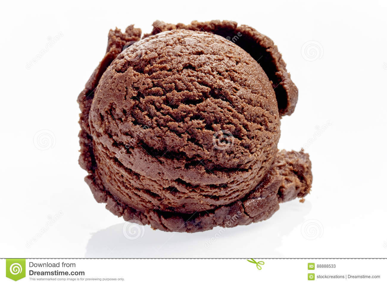 Scoop simple de Rich Chocolate Ice Cream