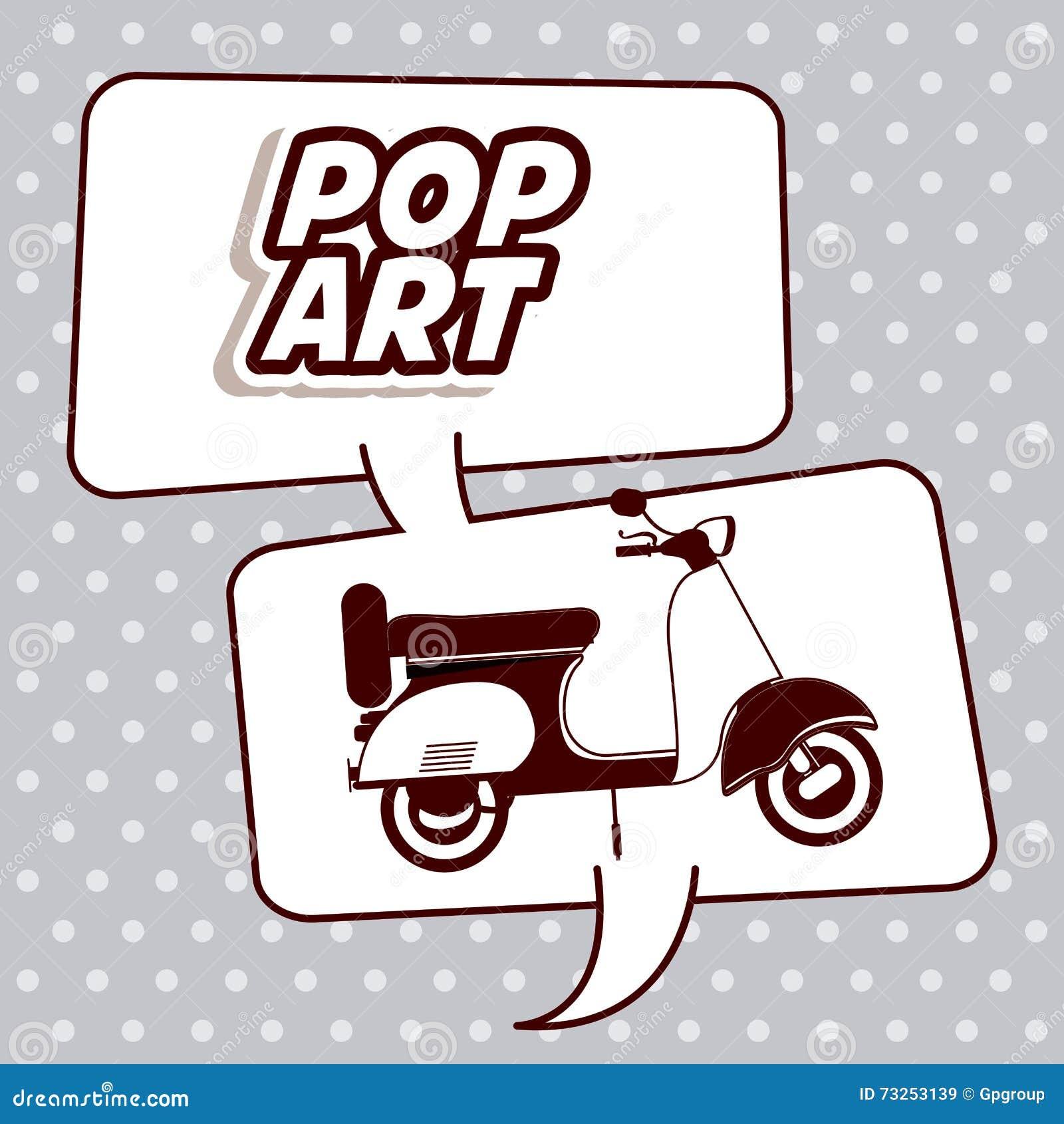 scooter pop art design stock vector image 73253139. Black Bedroom Furniture Sets. Home Design Ideas