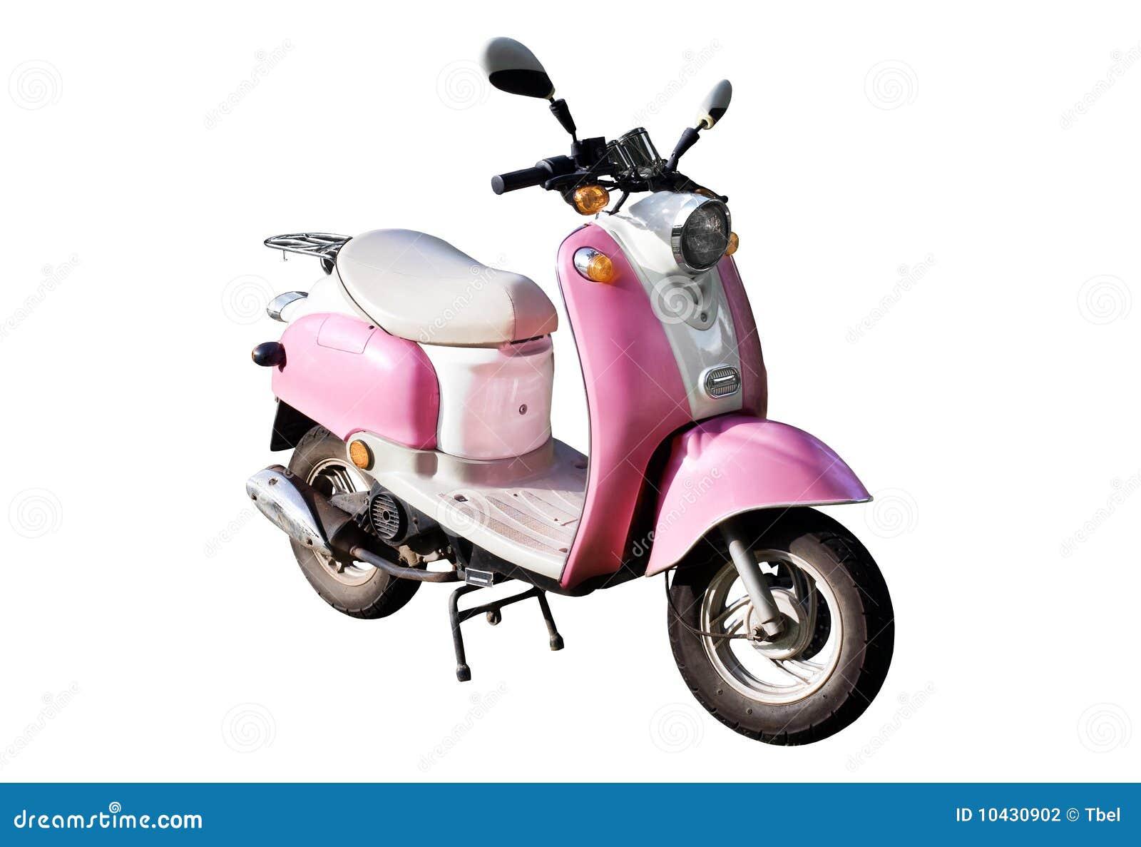 scooter rose de moteur photo stock image du roues rose 10430902. Black Bedroom Furniture Sets. Home Design Ideas